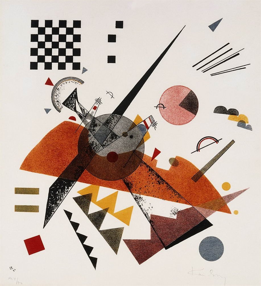 Maler Wassily Kandinsky. Grafik. Orange. 1923