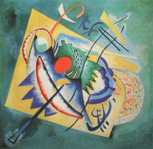 Maler Wassily Kandinsky. Malerei. Rotes Oval. 1920
